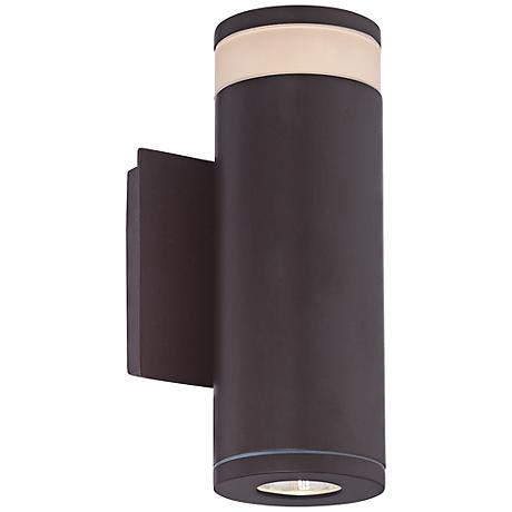 """Cole 13""""H Western Bronze LED Outdoor Wall Light"""