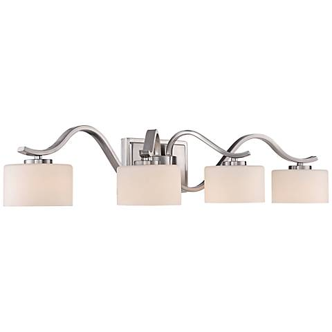 "Quoizel Devlin LED 31 1/2"" Wide Brushed Nickel Bath Light"