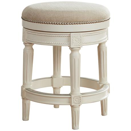 seat with cream fabric upholstery this traditional counter stool. Black Bedroom Furniture Sets. Home Design Ideas