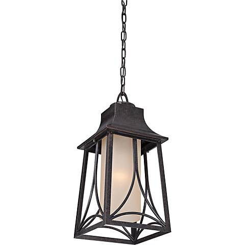 "Quoizel Hunter 19""H Imperial Bronze Outdoor Hanging Light"