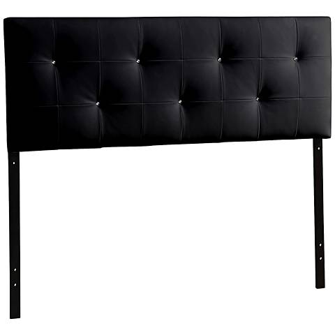 Baxton Studio Kirchem Black Faux Leather Headboard
