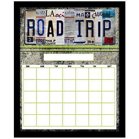"Road Trip 22"" High Black Framed Wall Calendar"