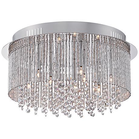 """Platinum Countess 16 1/2""""W Polished Chrome Ceiling Light"""