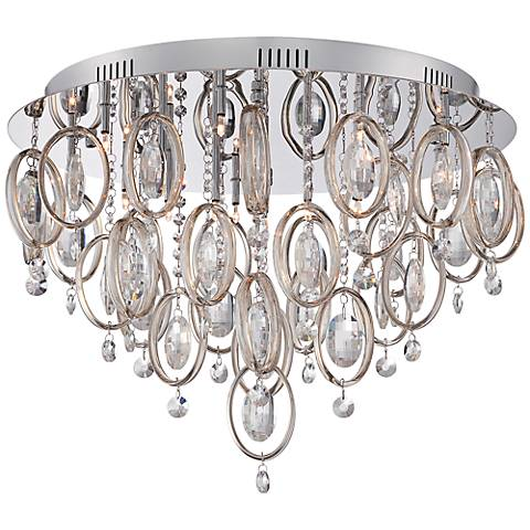 "Platinum Ella 23 1/2""W Polished Chrome Ceiling Light"