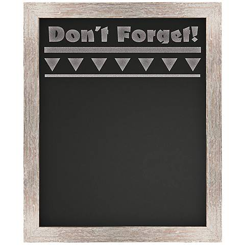 "Don't Forget 23"" High White Reclaimed Wood Wall Chalkboard"