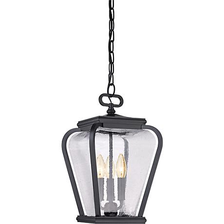 "Province 15 1/2"" High Mystic Black Outdoor Hanging Light"