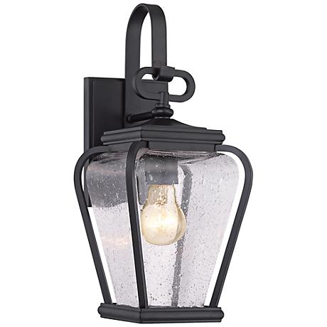 "Quoizel Province 15 1/2""H Mystic Black Outdoor Wall Light"