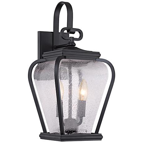 """Quoizel Province 17 1/2""""H Mystic Black Outdoor Wall Light"""