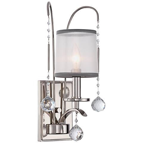 "Quoizel Whitney 16"" High Imperial Silver Wall Sconce"