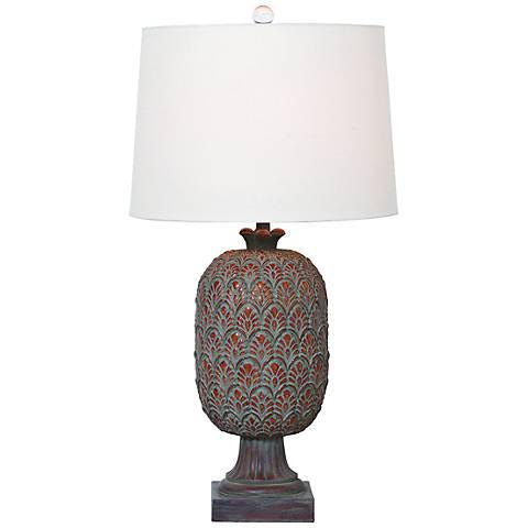 Port 68 Richmond Patina Moss Rust Table Lamp