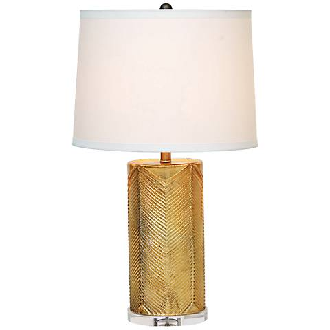 Port 68 Westwood Gold Leaf Glass Table Lamp