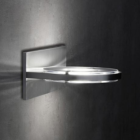 """Holtkoetter Wega Frost Glass 5 1/4"""" High LED Wall Sconce"""