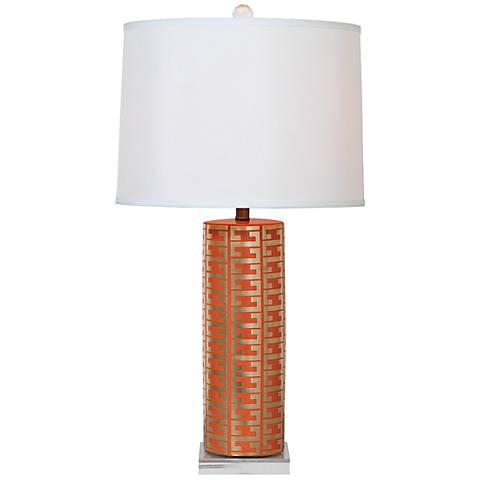 Port 68 Cameron Mandarin and Gold Porcelain Table Lamp