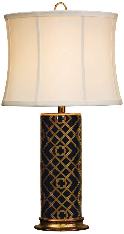 Port 68 Viceroy Black And Gold Porcelain Table Lamp
