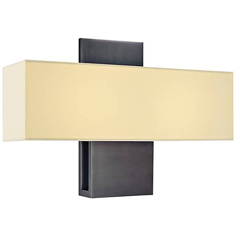 """Sonneman Ombra 11""""H Rubbed Bronze Fluorescent Wall Sconce"""