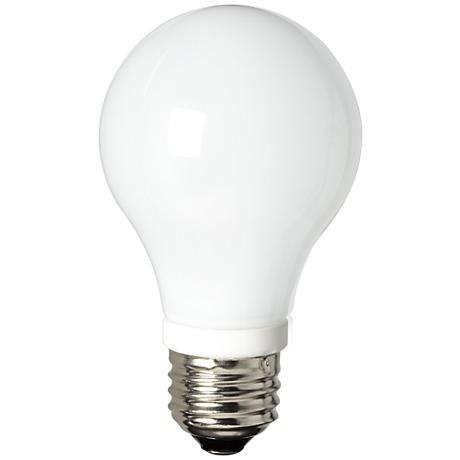 LED Dimmable Frosted Glass 5.5 Watt Slim Style A19 Bulb