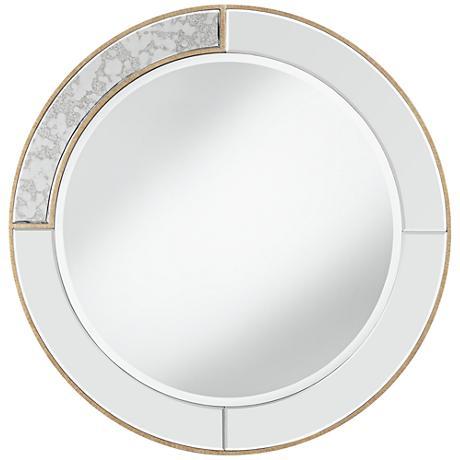 """Montesa Dark Champagne 31 1/2"""" Round Wall Mirror"""