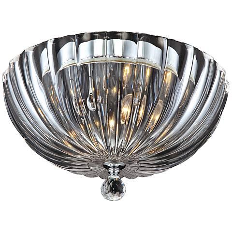 "Eurofase Aurora 11 3/4""W Scalloped Glass Ceiling Light"