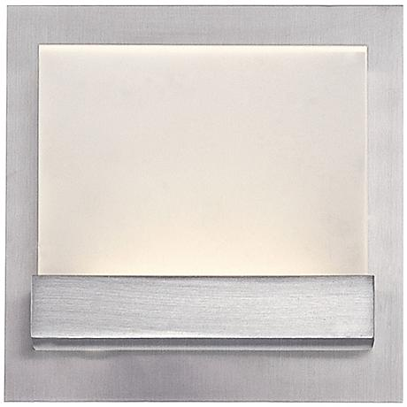 """Eurofase Harmen 5 1/2""""H Frosted 1-LED Nickel Wall Sconce"""