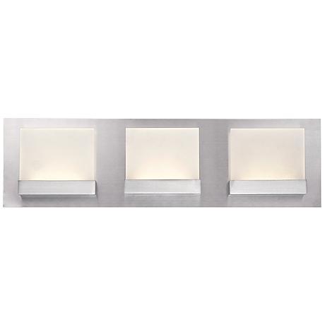 "Eurofase Harmen 18"" Wide Frosted 3-LED Nickel Bath Light"