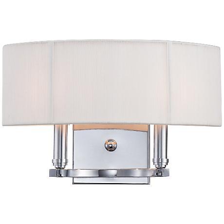 "Eurofase Kennedy 9"" High Cream Shade 2-Light Wall Sconce"