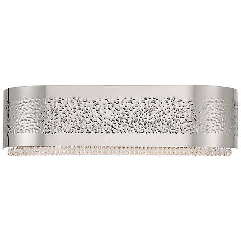 "Eurofase Cara 20"" Wide Snow Glass Satin Nickel Bath Light"