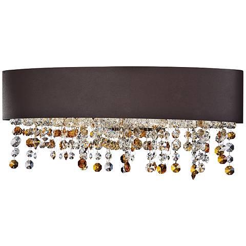 "Eurofase Romanello 19""W Cognac Glass Bronze Bath Light"