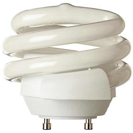 Squat 18 Watt GU24 2700K Spiral CFL Bulb