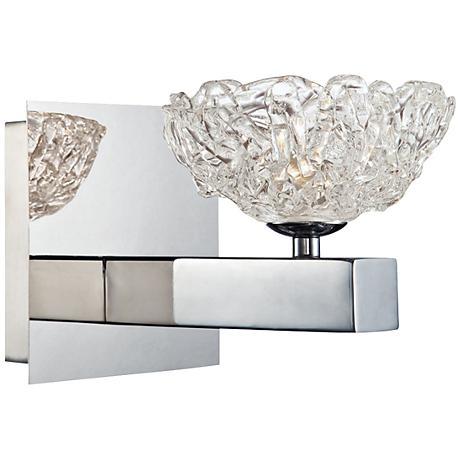 "Eurofase Caramico 5 3/4"" High Clear Ice Glass Wall Sconce"