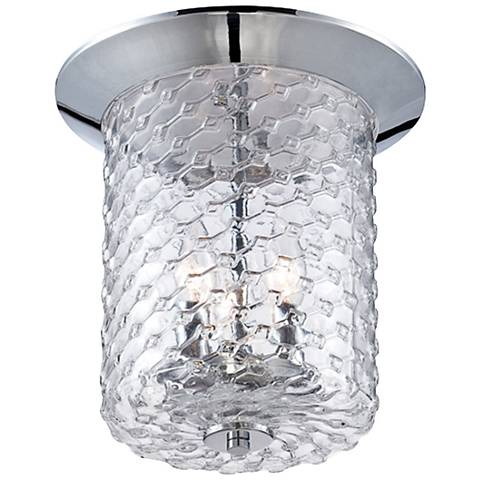 "Eurofase Elli 11 1/2"" Wide Honeycomb Glass Ceiling Light"