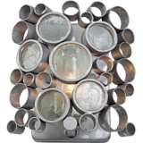 "Varaluz Fascination 8""H Nevada Silver Steel Bath Light"