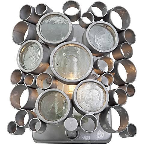 "Varaluz Fascination 8""H Nevada Silver Steel Bath Light"