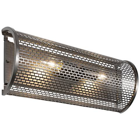 "Varaluz Lit-Mesh Test 18""W 2-Light New Bronze Bath Light"