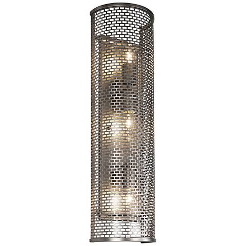"Varaluz Lit-Mesh Test 26 1/2""H 3-Light Bronze Wall Sconce"