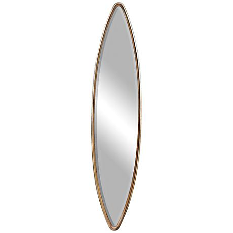 "Belsito Oxidized Gold 14"" x 65"" Tall Oval Wall Mirror"