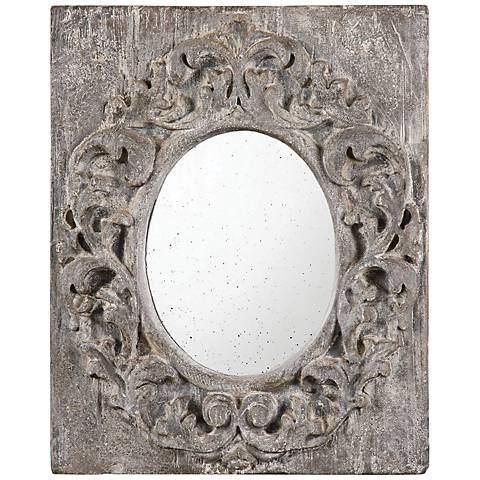 "Valmorea Flowing Leaf 19 1/2"" x 23 1/2"" Oval Wall Mirror"