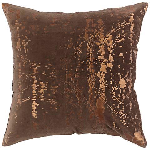 "Watermark Bronze 18"" Square Throw Pillow"