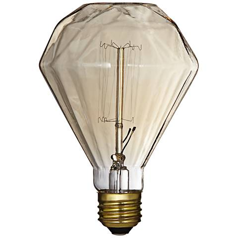 Decorative Diamond Amber 60 Watt Edison Light Bulb