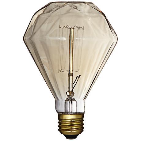 Decorative Diamond Amber 60 Watt Edison Light Bulb
