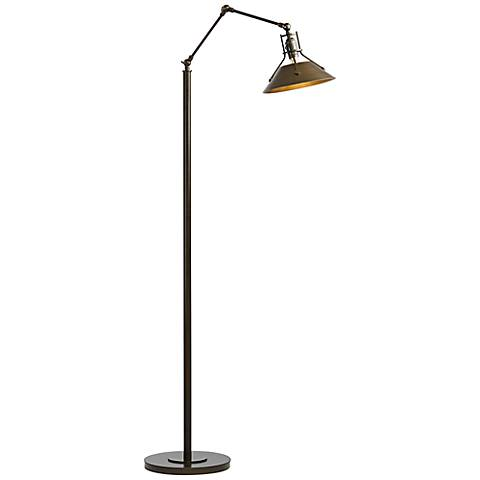 Hubbardton Forge Henry Bronze Metal Floor Lamp