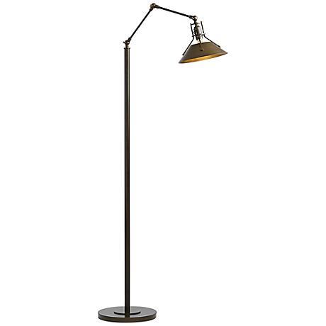 Hubbardton Forge Henry Bronze Metal Floor Lamp