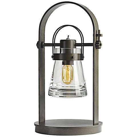 Hubbardton Forge Erlenmeyer Dark Smoke Metal Desk Lamp