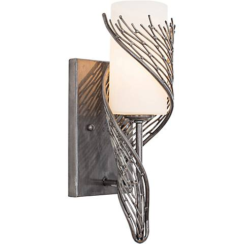 "Varaluz Flow 14"" High Recycled Steel 1-Light Wall Sconce"