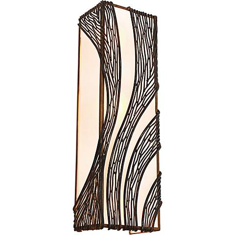 """Varaluz Flow 20 1/4""""H Hammered Ore 2-Light Wall Sconce"""