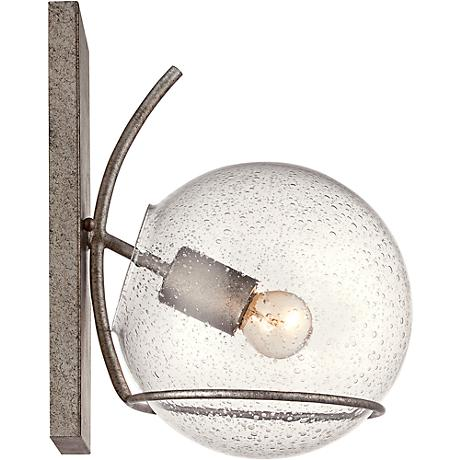 "Varaluz Watson 13""H Silver Age Seedy Glass Wall Sconce"