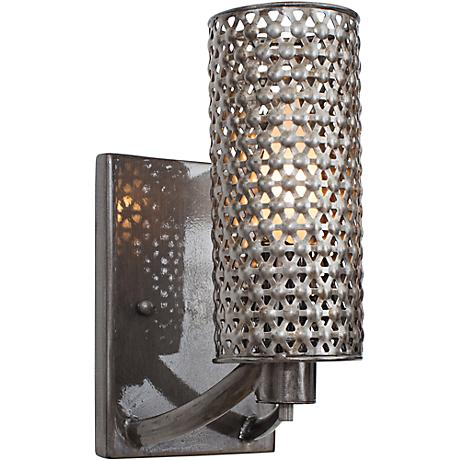 """Varaluz Casablanca 9 1/2"""" High Recycled Steel Wall Sconce"""