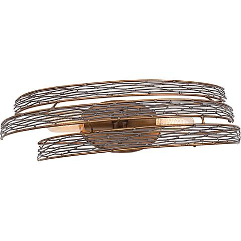 "Varaluz Flow 20 1/2""W 2-Light Ore Steel Mesh Bath Light"