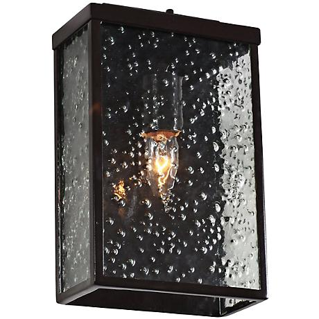 """Varaluz Mission You 10 1/2"""" H Bronze Outdoor Wall Light"""