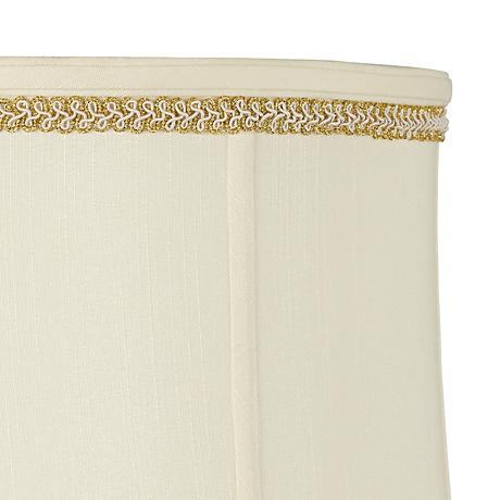 Metallic Gold with Ivory Loops Lamp Shade Trim - 4 Yards