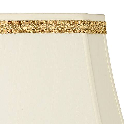 Yellow Gold Ribbon Scroll Lamp Shade Trim - 3 Yards